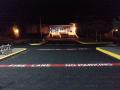 Ilwaco School in Ilwaco - Parking lot striping (job done at night)